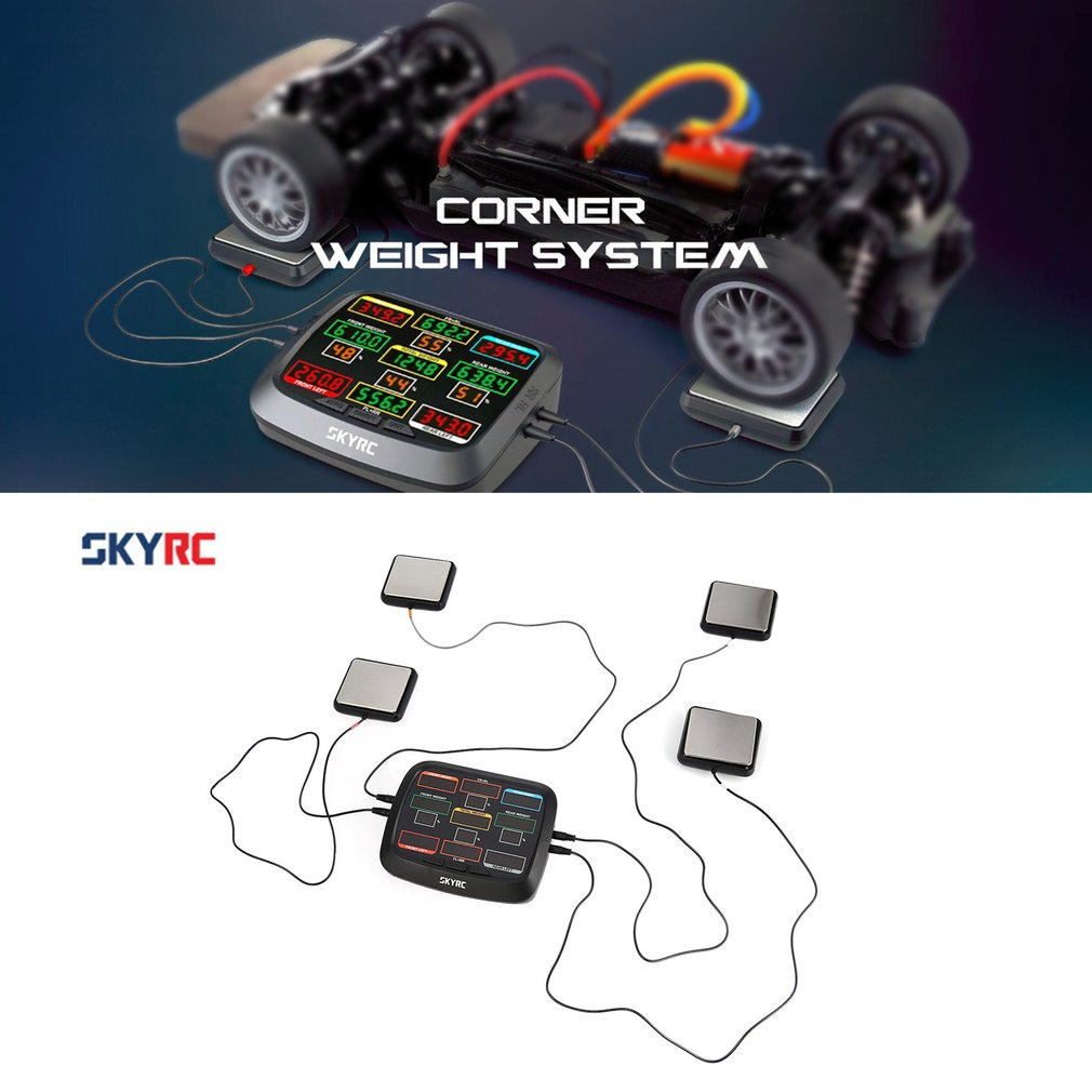 SkyRC Corner Weight RC Car Balancing Scale System Setup Kit Accessory for 1/8 1/10 1/12 RC Car Truck Buggy Off-road SK 500015 hongnor ofna x3e rtr 1 8 scale rc dune buggy cars electric off road w tenshock motor free shipping
