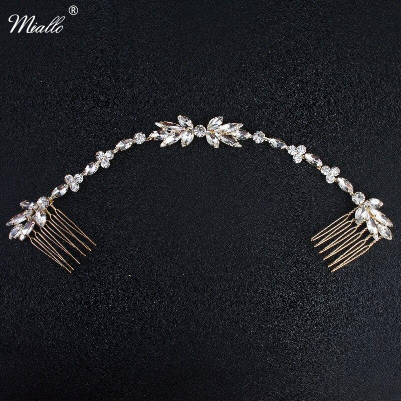 Miallo 2018 Klassische Hochzeit Lange Haar Kämme Österreichischen Kristall Biegsamen Braut Haar Schmuck Zubehör Frauen Haarnadeln Haarteile