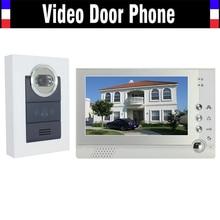 "7 "" Lcd Video Intercom night vision system puerta Bell Video de la puerta del timbre del teléfono videoportero monitores 1 cámara 1 del Monitor"
