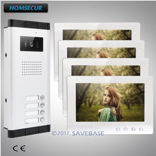 """HOMSECUR 10.1"""" Apartment Video&Audio Home Intercom with One Button Unlock for Secure Home"""