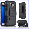 3 в 1 Heavy Duty Hybrid Case Силиконовые PC Противоударный Combo Назад крышка С Креплением для Ремня Подставка для Samsung Galaxy S7 S6 Edge S5
