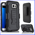 3 in 1 Heavy Duty Hybrid Case Silicone PC Shockproof Combo Back Cover With Belt Clip Kickstand for Samsung Galaxy S7 S6 Edge S5