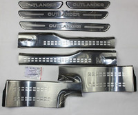 Stainless Steel Inside External Scuff Plate Door Sill For 2013 Mitsubishi Outlander Samurai