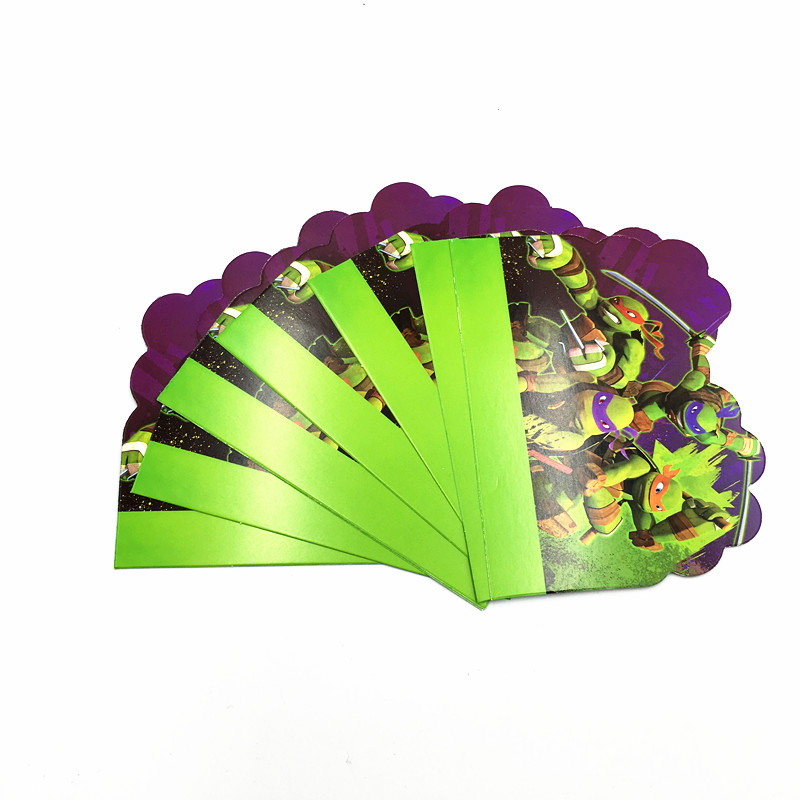 Us 1 75 35 Off 10pcs Lot Turtles Party Invitations Cards Turtles Birthday Party Invitations Teenage Mutant Ninja Turtles Invitation Cards In Cards