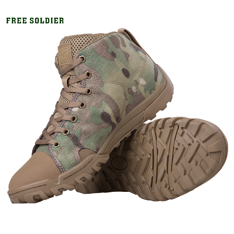 FREE SOLDIER outdoor sport tactical military men s shoes breathable soft lightweight trekking shoes for camping