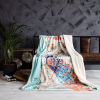 Chinese Style Peacock Print Pattern Vogue Winter Warmth Throw Soft Warm Blankets Bedspread Blanket To On For The Sofa/Bed/Car