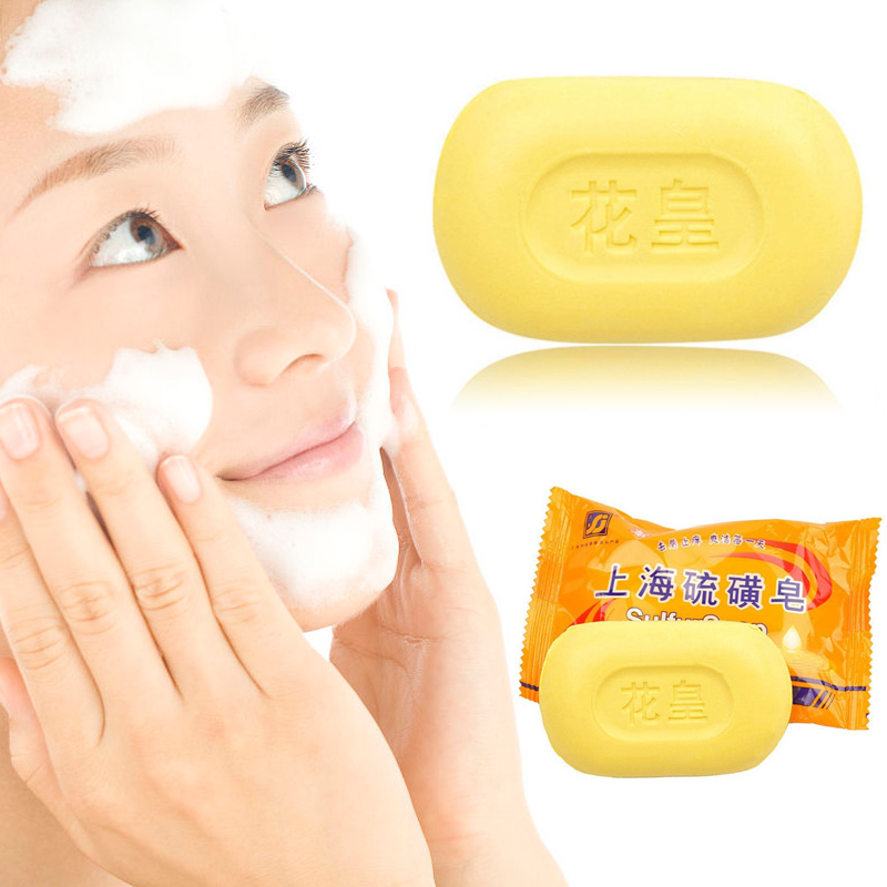 Hot Sulphur Soap Cleansing Soap Anti Bacteria Fungus Skin Care Moisturizing Soap Beauty & Health