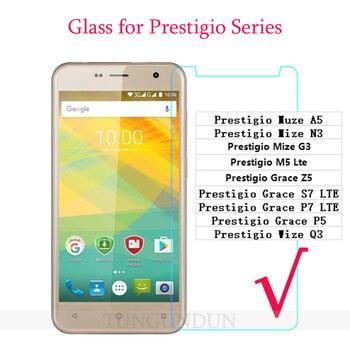 Prestigio Wize Q3 Glass Screen Protector For Prestigio Muze A5 Wize G3 Grace S7 P7 P5 Z5 M5 Tempered Glass SmartPhone Film Cover