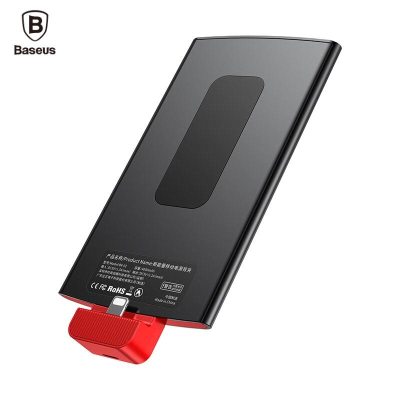 Baseus 4000 mah Portable Power Bank Pour iPhone 7 6 6 s Plus 5 5S Se Sac À Dos Externe Batterie Chargeur cas Pour iPhone 7 Powerbank