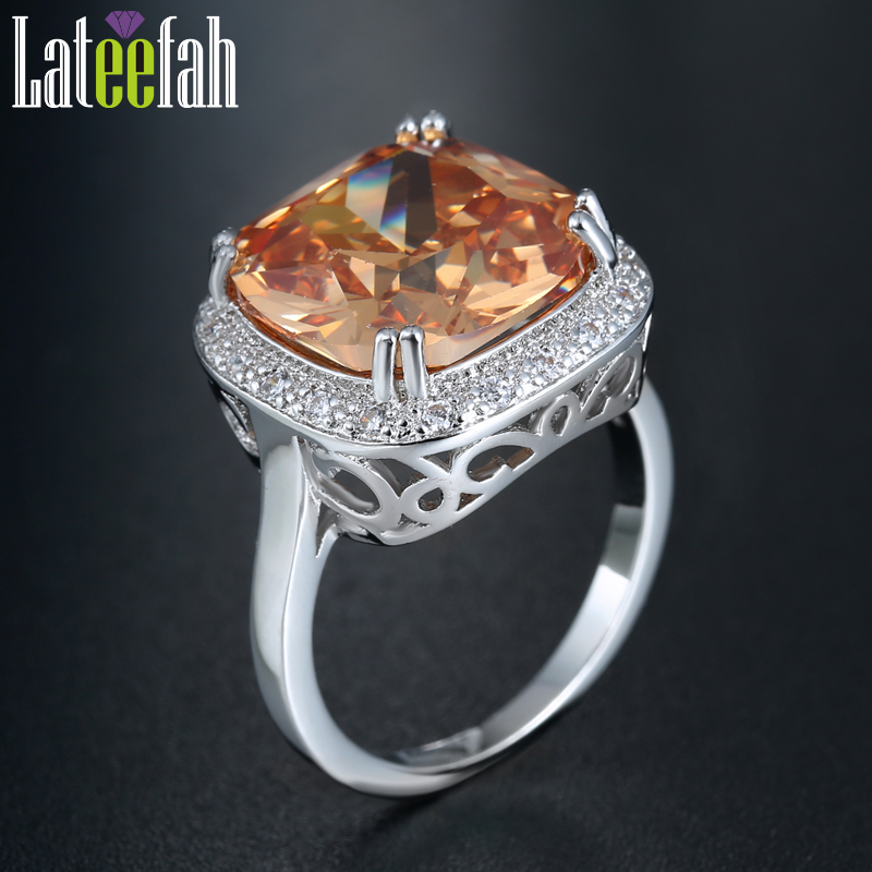 Large Cubic Zirconia Cocktail Ring