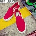 Wikileaks 2016 Novas Mulheres Casuais Moda Misturado-Cor Sapatas de Lona Mulher Clássico Lace-Up sapatos Estudante Sapatos Zapatillas Deportivas Mujer