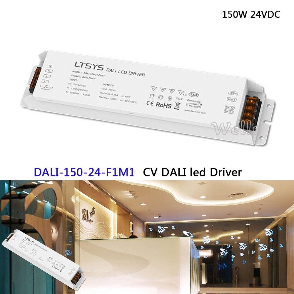 DALI Led Dimming Driver;DALI-150-24-F1M1;AC100-240V input;DC24V 6.25A 150W output;DALI/Push 150W 24VDC CV DALI Driver dali duchamp