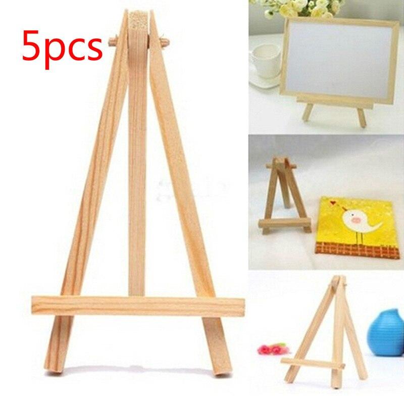 "24pk 5/"" Mini Black Wood Display Easel A-Frame Artist Tripod Table Holder Stand"