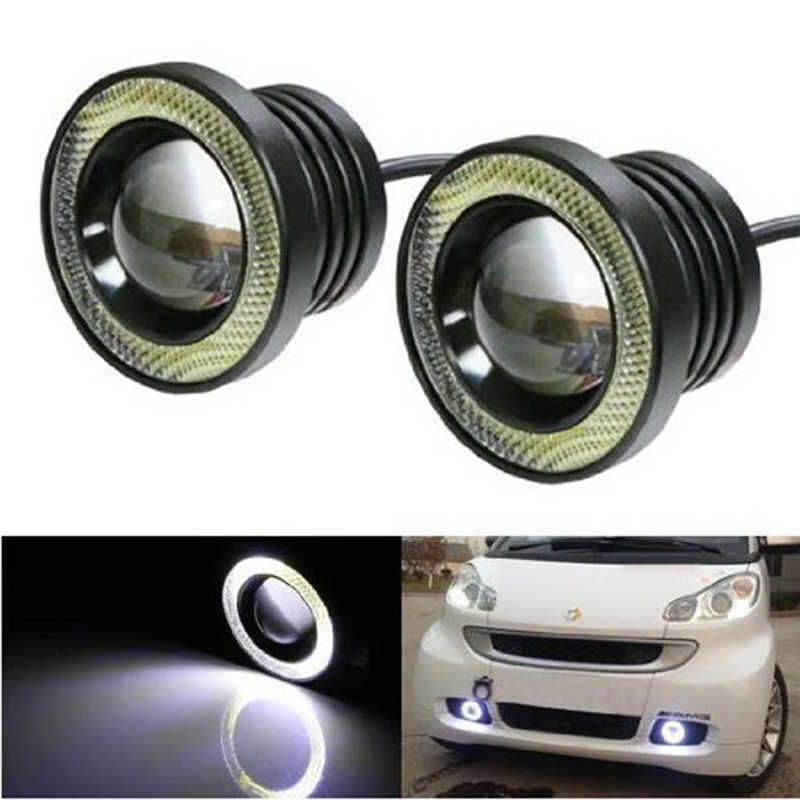 DUU 2 stks Projector Auto LED Mistlamp Halo Angel Eyes Ringen COB 30 w LED Wit Blauw Rood 12 v SUV ATV Off Road Auto Mistlamp 3