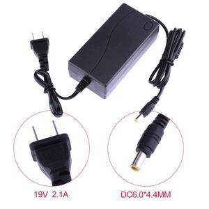 Image 4 - ALLOYSEED 19V 2.1A AC na DC konwerter zasilacz 6.5 6.0*4.4mm do monitora LG zasilanie ue lub US wtyczka do telewizora LCD nawigacja GPS