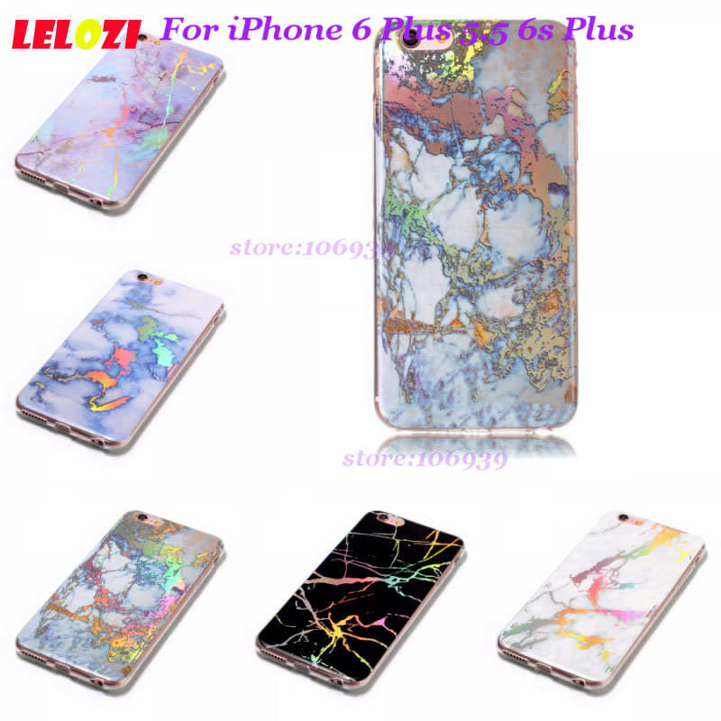 LELOZI Soft Bling Pattern Smartphone Accessories Marble Back Case Capa Shell For iPhone 6 Plus 5.5 6s Plus iPhone6plus 6Plus ...