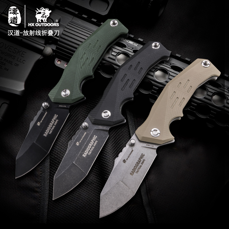 HX Outdoors Tactical knife Folding knives 9Cr14mov Blade Survival Multi Pocket Hunting Knives EDC Outdoor Camping