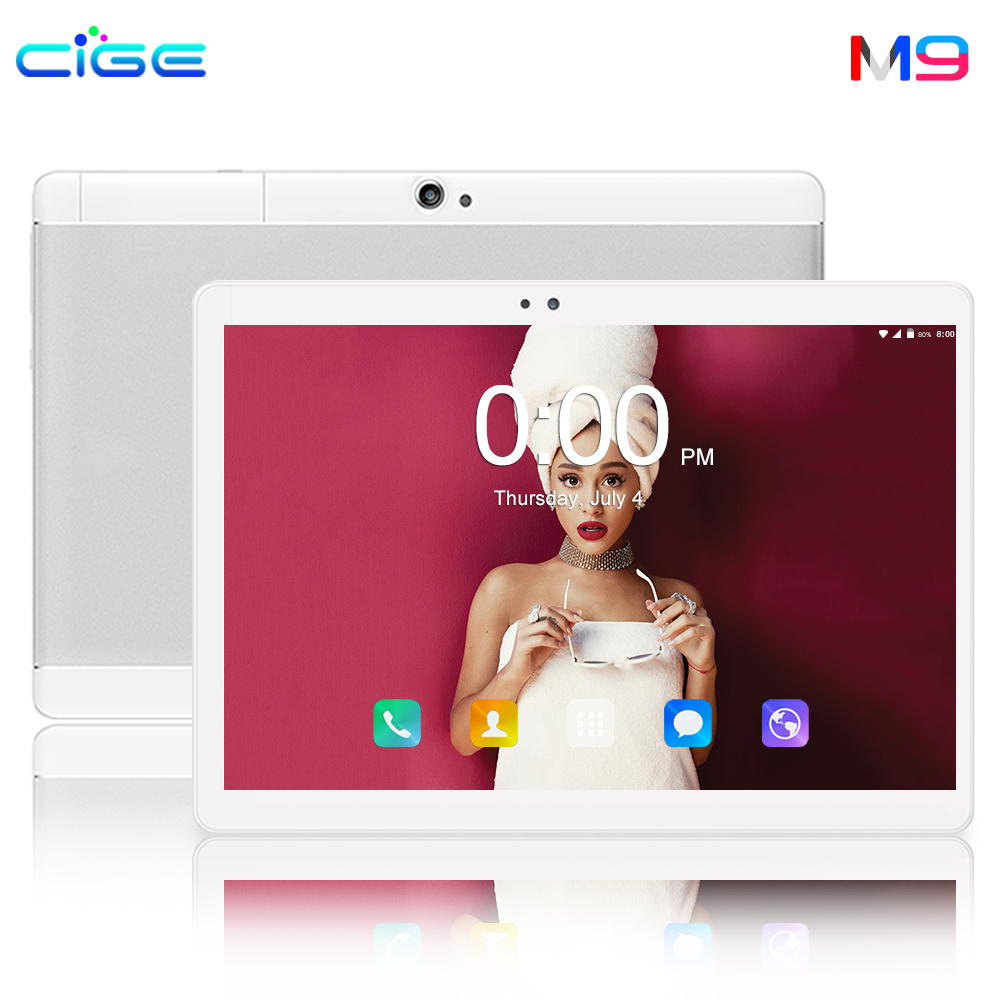 CIGE 10 pouces tablette Pc Android tablette 1280*800 IPS 6GB 64GB double SIM 4G tablette Octa Core Android 8.0 Bluetooth WiFi tablettes 10.1