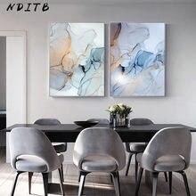 Póster de lienzo abstracto con textura de mármol azul y verde pintura de arte de pared minimalista nórdica, imagen de decoración de la habitación