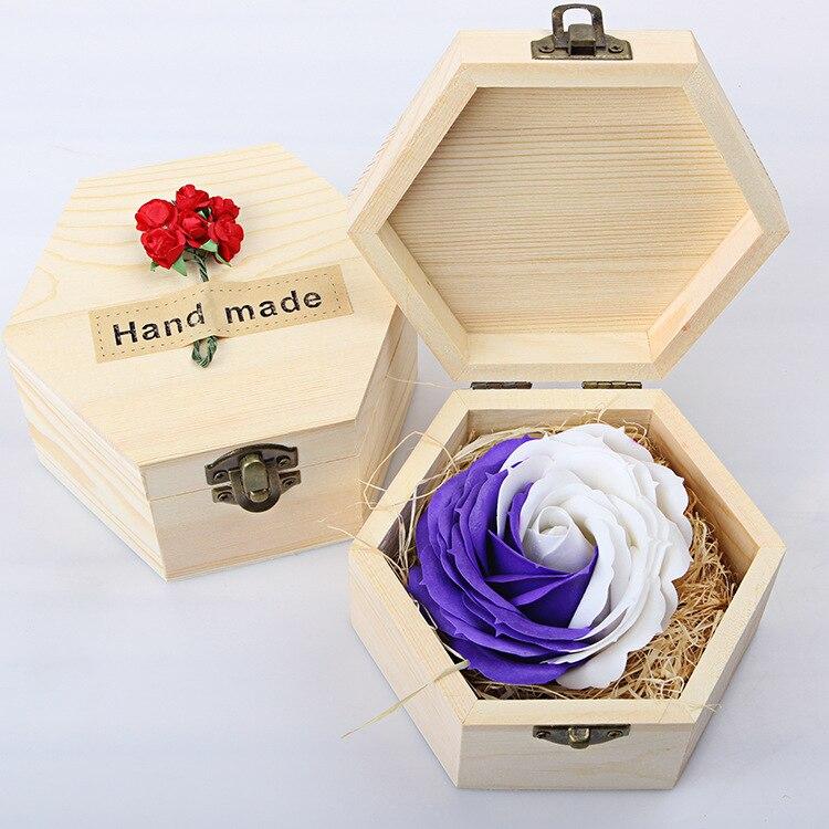 Flores preservadas Rosas Salvavidas Flores Amantes de Recuerdos Conmemorativos R