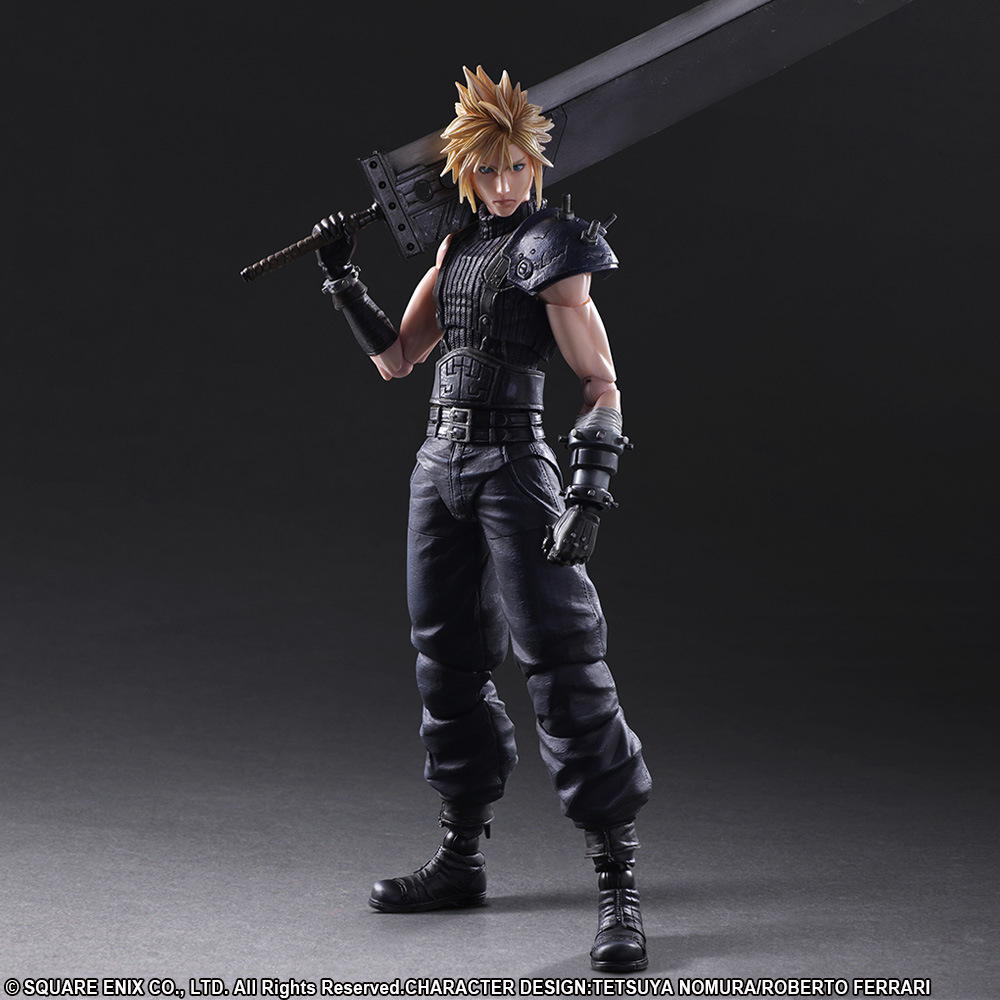 PLAY ARTS 27cm Final Fantasy VII Cloud Strife Edition 2 Action Figure Model Toys 42mm parnis withe dial sapphire glass miyota 9100 automatic mens watch 666b