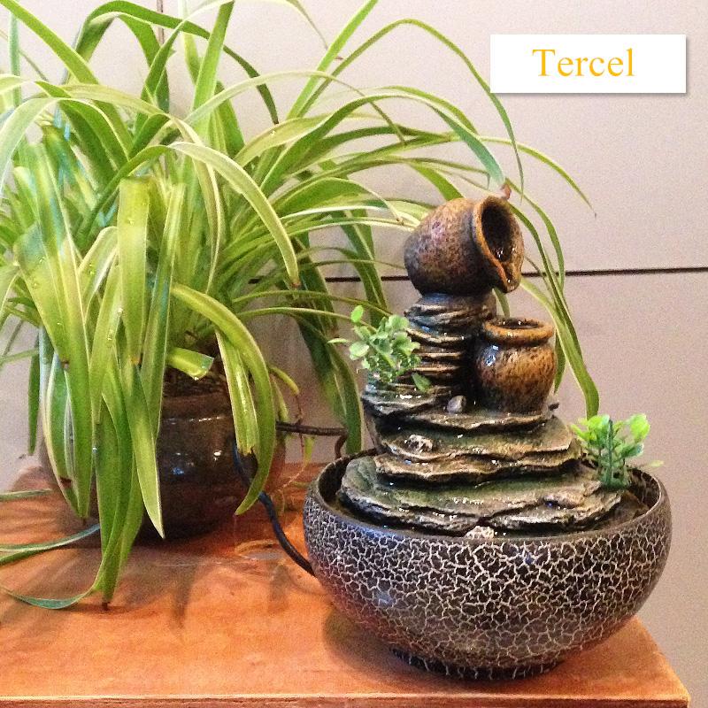 fuentes de agua decorativas creativas artesanas de resina humidificador rocalla cubierta decorativa casera adornos regalos envo