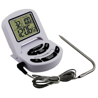 Digital Food Thermometer BBQ Grill Thermometer Kitchen Cooking Meat BBQ Candy Milk Thermometer With Timer Large Display