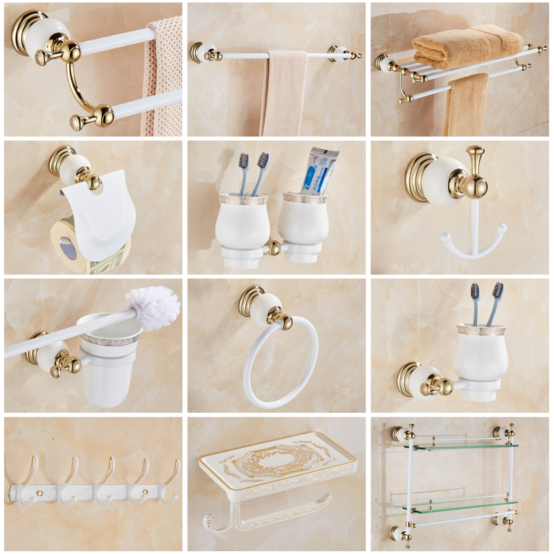 Bulk Bathroom Supplies: Free Shipping Wholesale Luxury White Copper Brass Bathroom