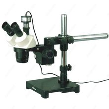 Buy online Stereo Microscope-AmScope Supplies 10X-20X-30X-60X Stereo Microscope on Boom Stand + 1.3MP Digital Camera
