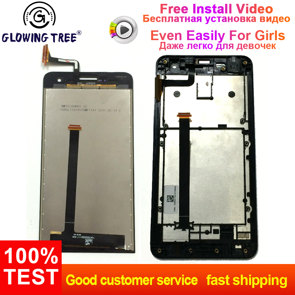 For Asus ZenFone 5 A500CG A500KL A501CG T00J T00F T00P Touch Screen  Digitizer + LCD Display Monitor Assembly with Frame