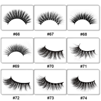 50 Pairs mink eyelashes customize packing false lashes 3d mink lashes private label eyelash eyelash extension for makeup DIY log