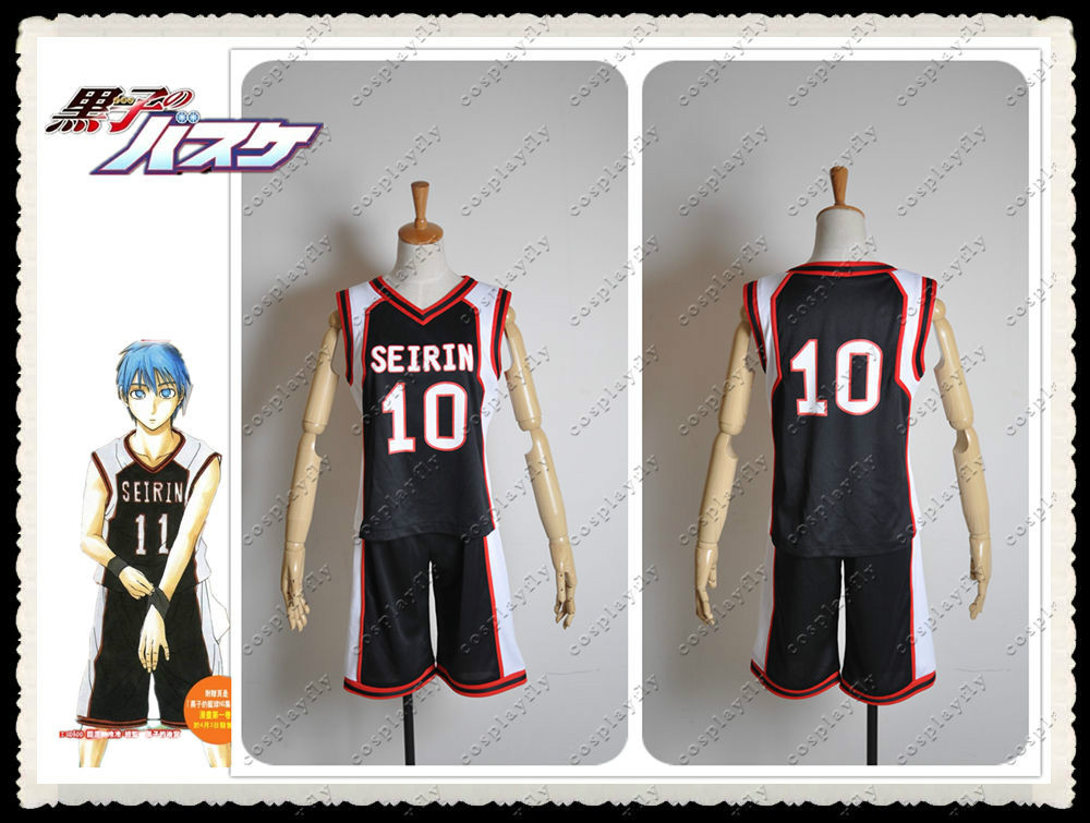 Kuroko no Basuke Kuroko Tetsuya Kuroko NO.10 Cosplay Costume Jersey Outfit Clothing Adult  (C0277) (Number can be changed)