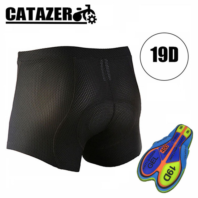 Professional Cycling Underwear Comfortable Bicycle Shorts With Gel 19D Pad Short Bicycle Under Mat for Man Size M-XXXL In Stock