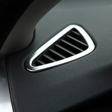 Chrome внутренняя боковые панели вентиляционное отверстие Выход Обложка отделка для BMW X5 f15 2014 2015 2016 аксессуары автомобилей Стайлинг Fit для LHD