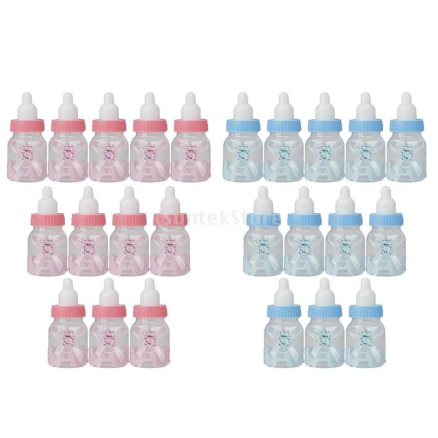 SPMART 12pcs Small Fillable Candy Bottle Baby Shower Favors