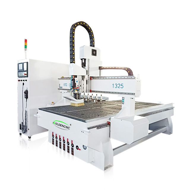 China 4x8ft Linear Row ATC 1325 1530 CNC Router Machine 3D Wood Cutting Machinery Woodworking Wooden Bed