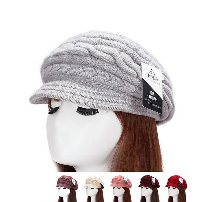 Casual Winter Rabbit. Beanies Solid Thick Bonnet Knitted Skullies Women Warm Ski Hat Soft Breathable Cap Gorras Ladies Berets femme skullies autumn beanies winter warm chapeau women hat female knitted cap ladies bonnet