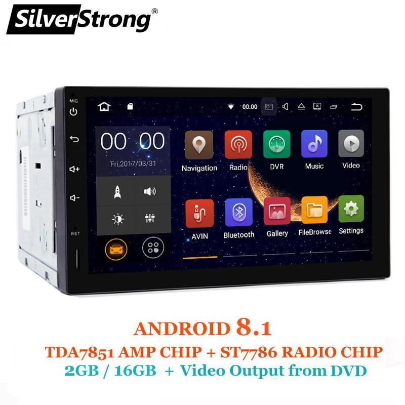 SilverStrong Android8.1 2Din Universal Car DVD GPS 2GB RAM Car Radio 2 din 7 inch car Stereo auto Radio Navi 2 varients silverstrong 8inch 2din android7 1 radio car dvd for suzuki sx4 mp4 mp3 radio navitel gps navi