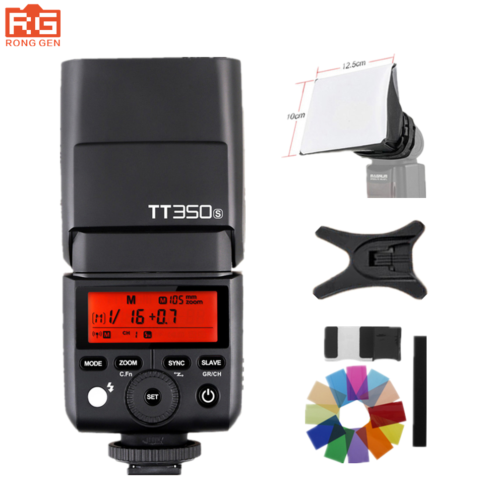 GODOX Mini TT350S TTL HSS 2.4GHz Flash Cameras TT350 + X1TS trigger for Sony a6000 a6500 mirrorless dslr camera A7 serie Cameras sony a6500