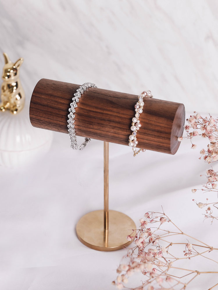 Black Walnut Wood Bracelets Display Holder Bangle Display Stand Jewelry Display Rack Black Walnut Wood Bracelets Display Holder Bangle Display Stand Jewelry Display Rack