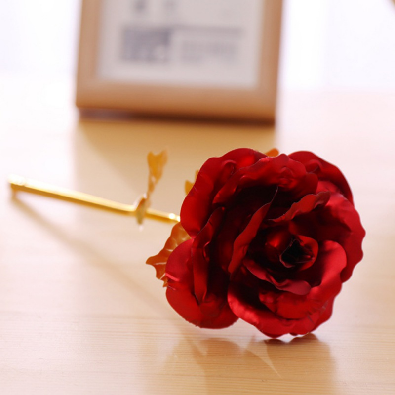 24K Gold Rose With Base Love