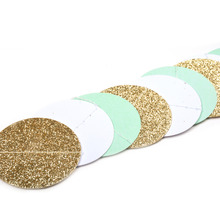Glittery Decorative Craft Paper Garlands for Baby Showers and Other Celebrations