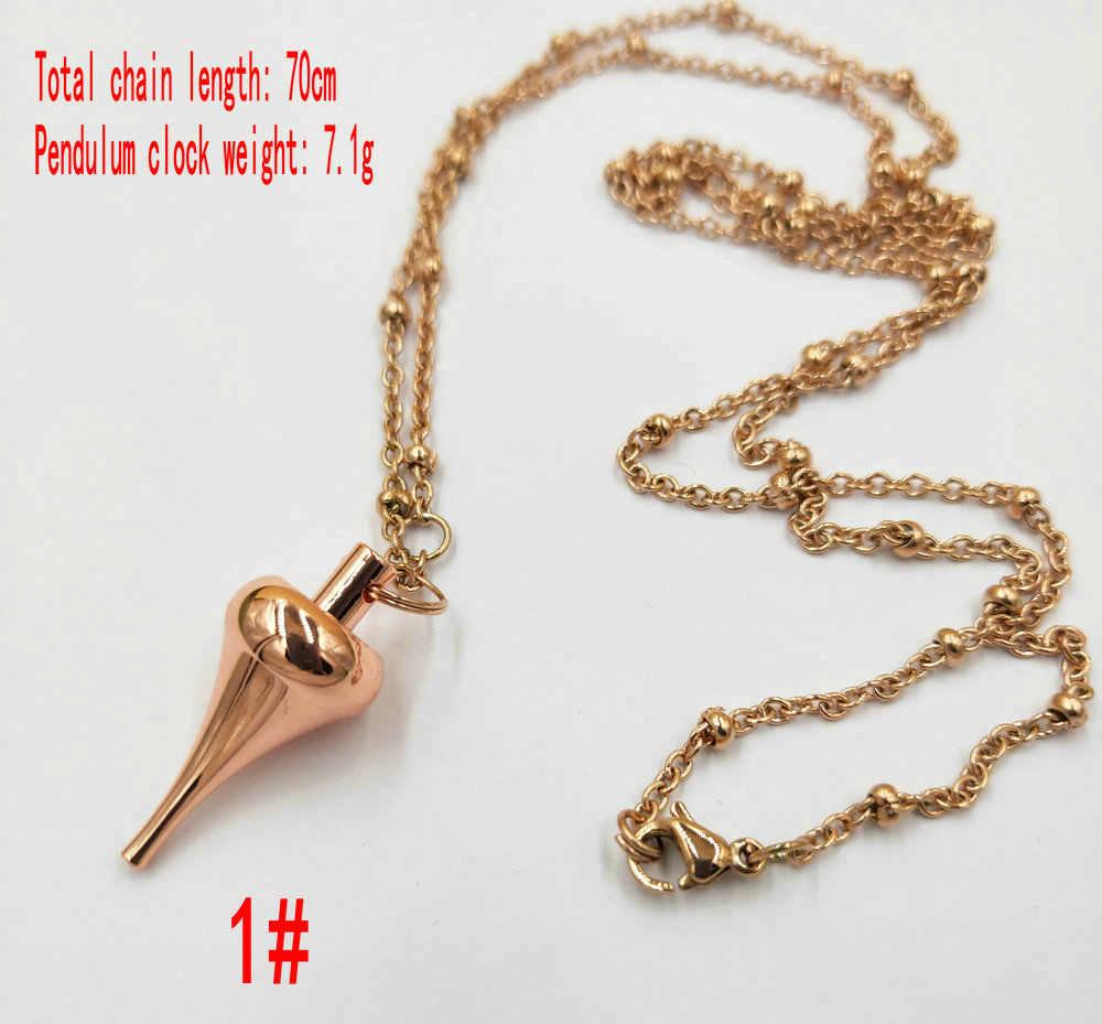 Reiki bakır kolye ve sarkaç harmony sarkaç madencilik için gül altın avrupa ile moda kolye zinciri