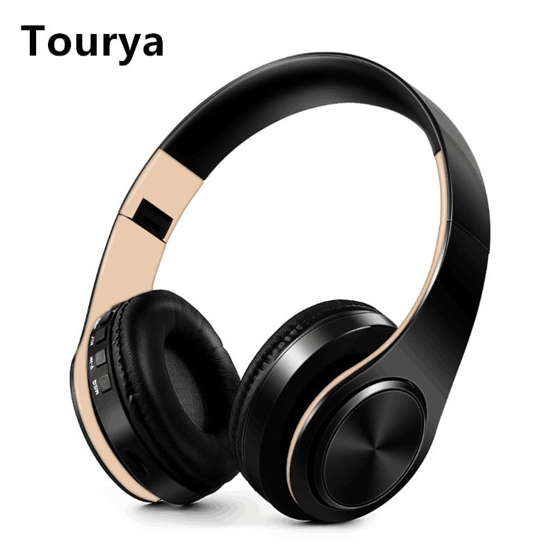 Tourya B7 Беспроводной наушники гарнитура Bluetooth складные наушники регулируемые наушники С микрофоном для ПК мобильного телефона Mp3