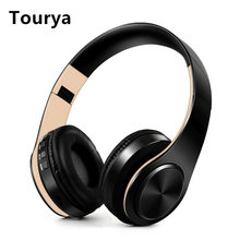 Tourya B7 Wireless Headphones Bluetooth Headset Foldable Headphone Adjustable Earphones With Microphone For PC mobile phone Mp3(China)