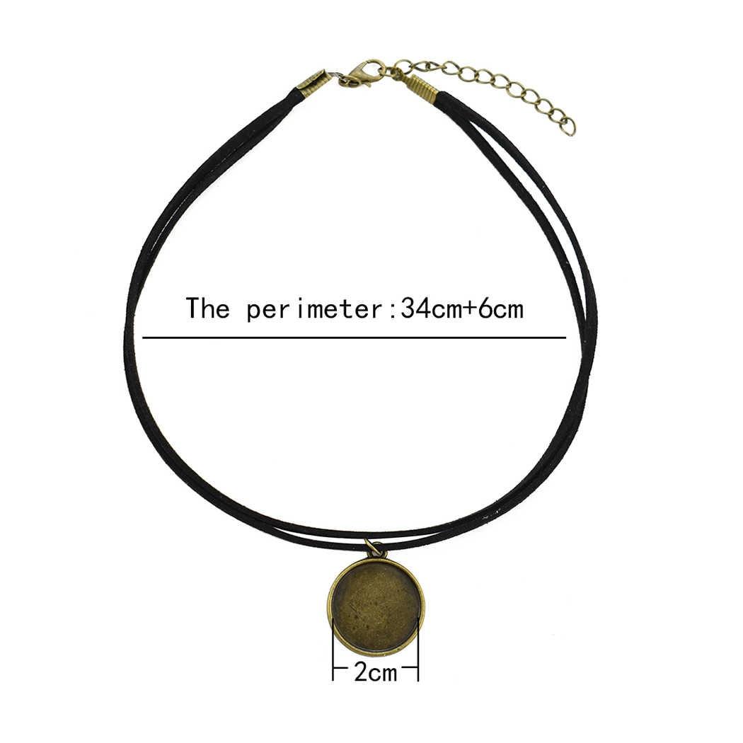 ゴッホチャーム女性デザインチョーカーネックレス黒ベルベットガラスゴシック鎖骨ネックレスショートネックレスの宝石ギフト