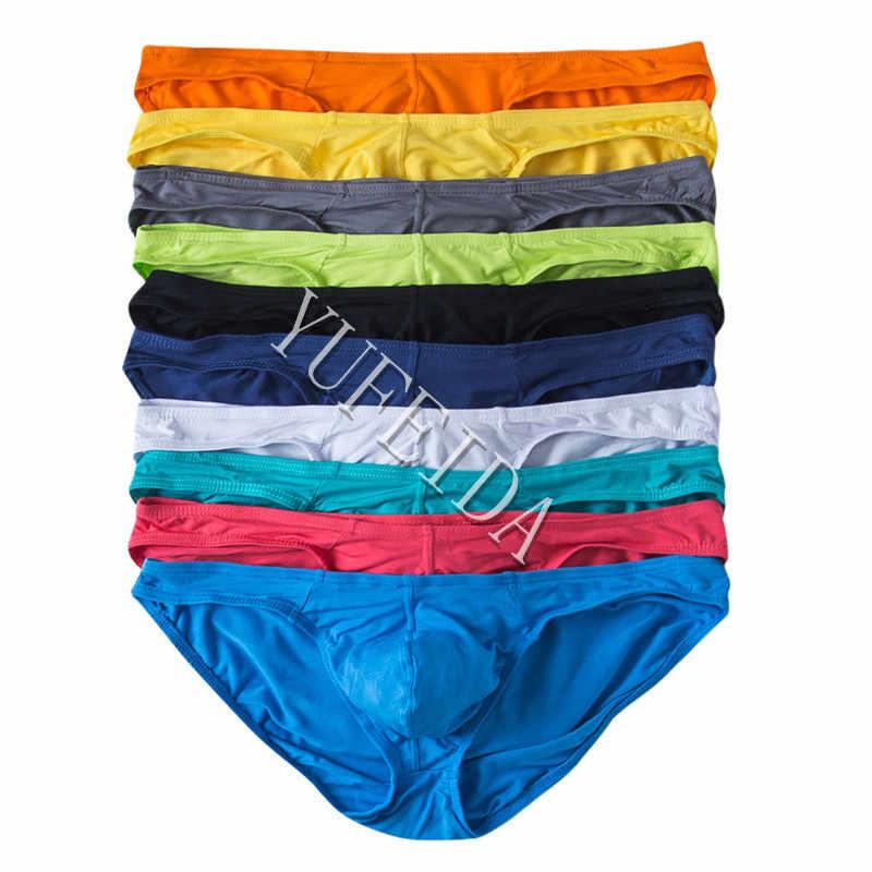 406a037c06b1 10PCS/LOT Sexy Underwear Men's Modal Briefs Shorts Bulge Pouch Soft  Underpants Slip Homme Sexy