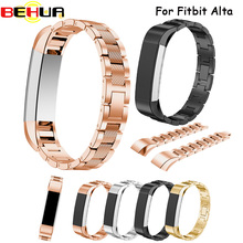 Brand Luxury watchband Genuine Excellent Stainless Steel Watch Bands Wrist Straps For Fitbit Alta Tracker Watch Accessories