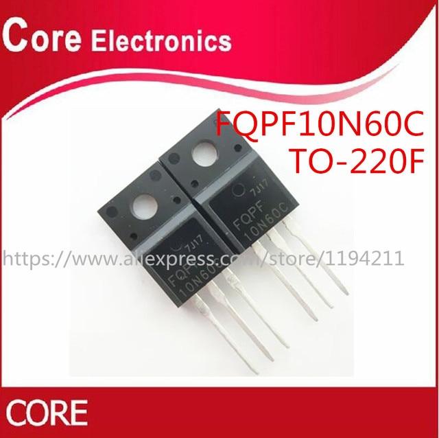 100pcs/Lot FQPF10N60C 10N60C 10N60  TO 220F NEW
