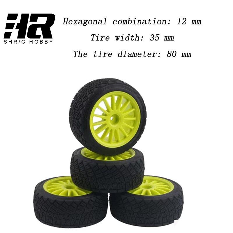 RC car 1/10 80mm Tarmac Wheels HPI WR8 HSP 94177 tire tyre and rubber tire tire wheel hub four 80mm Tarmac Wheels 12mm Hub